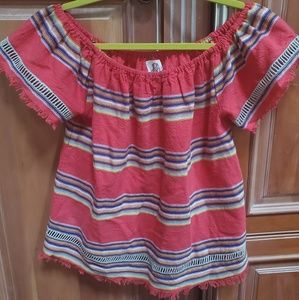 DRA by Anthropologie fringe blouse size L